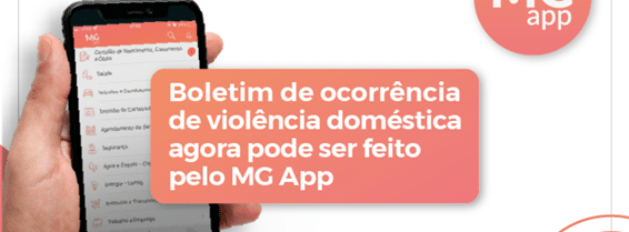 Denúncia de violência doméstica no aplicativo