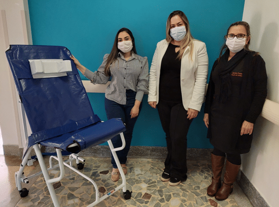 Santa Casa: pediatria recebe doação de cadeira de banho